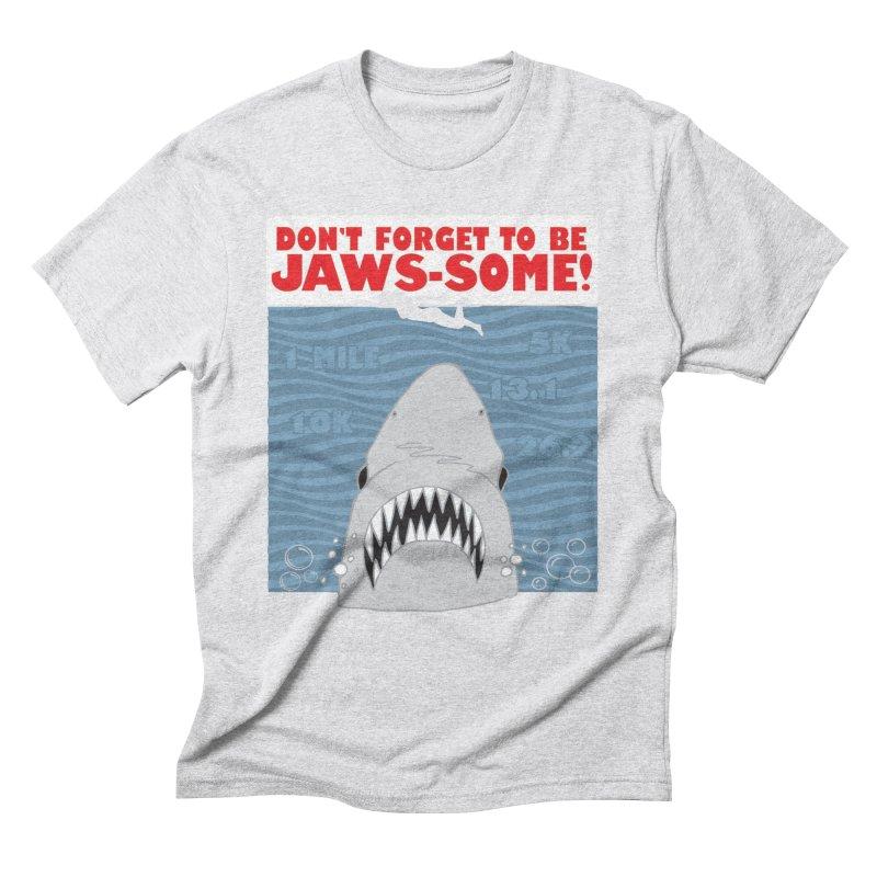 Shark Bait Hoo Ha Ha: Be JAWSome! Men's Triblend T-Shirt by Moon Joggers's Artist Shop