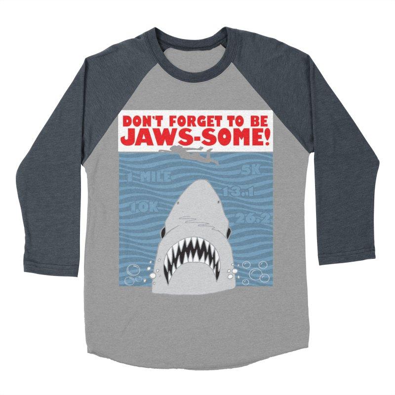 Shark Bait Hoo Ha Ha: Be JAWSome! Women's Baseball Triblend Longsleeve T-Shirt by Moon Joggers's Artist Shop