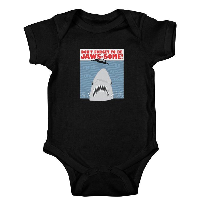 Shark Bait Hoo Ha Ha: Be JAWSome! Kids Baby Bodysuit by Moon Joggers's Artist Shop