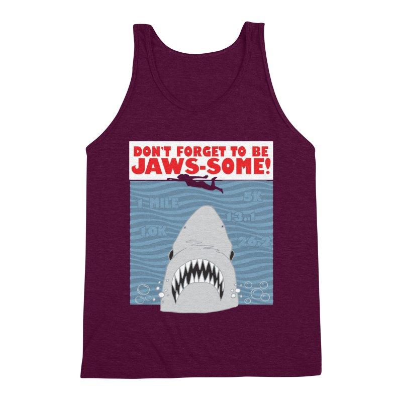 Shark Bait Hoo Ha Ha: Be JAWSome! Men's Triblend Tank by Moon Joggers's Artist Shop
