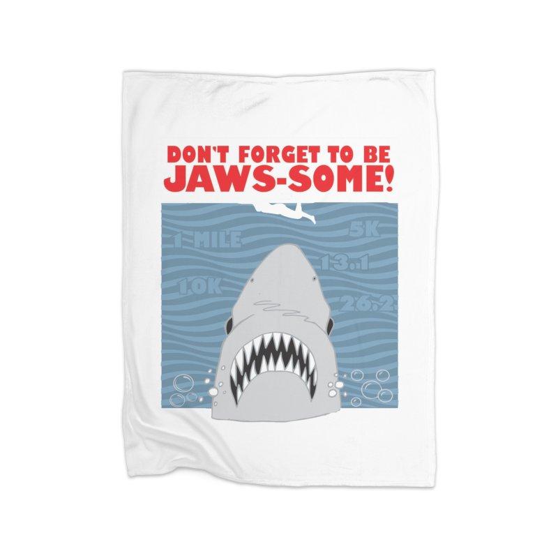 Shark Bait Hoo Ha Ha: Be JAWSome! Home Fleece Blanket Blanket by Moon Joggers's Artist Shop