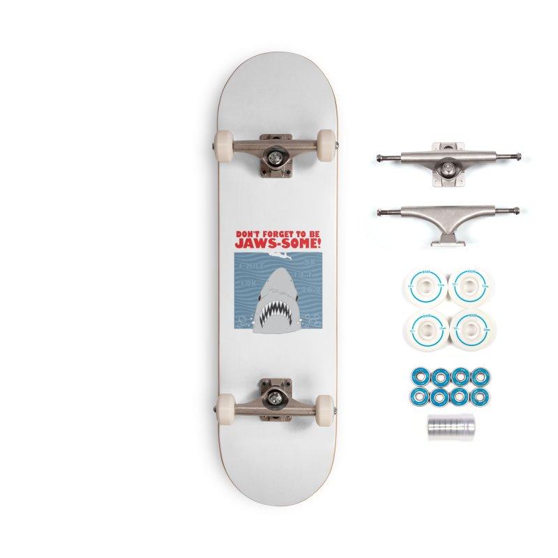 Shark Bait Hoo Ha Ha: Be JAWSome! Accessories Complete - Basic Skateboard by Moon Joggers's Artist Shop