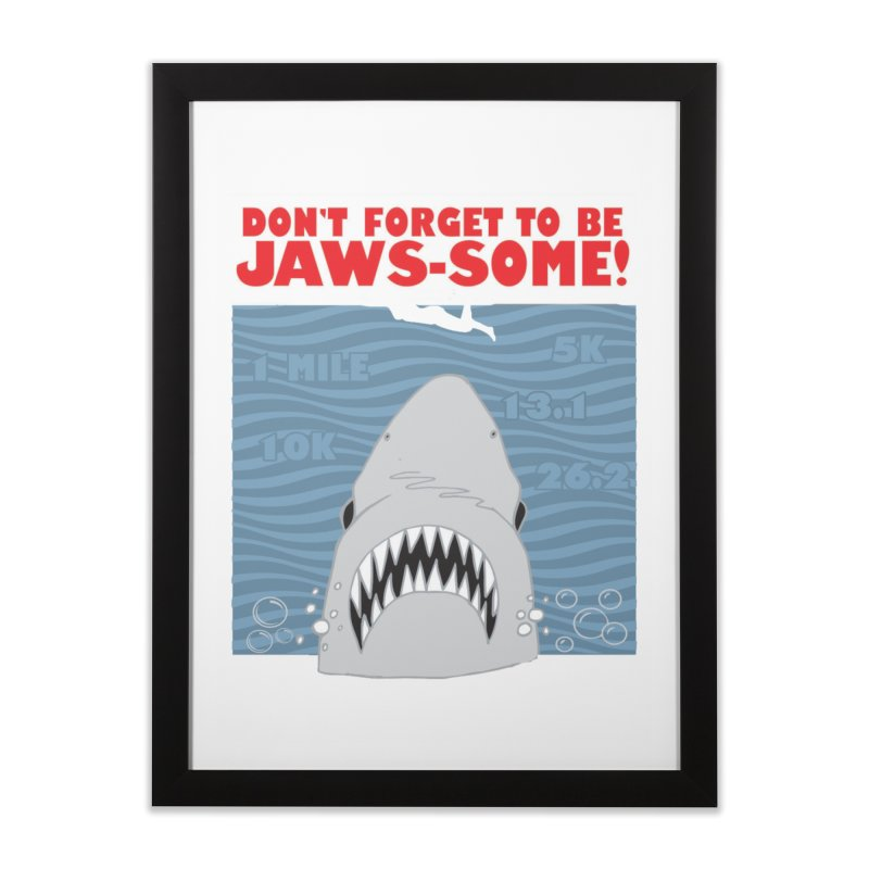 Shark Bait Hoo Ha Ha: Be JAWSome! Home Framed Fine Art Print by Moon Joggers's Artist Shop