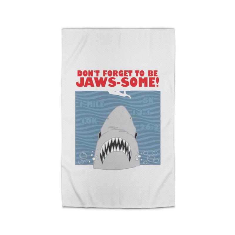 Shark Bait Hoo Ha Ha: Be JAWSome! Home Rug by Moon Joggers's Artist Shop
