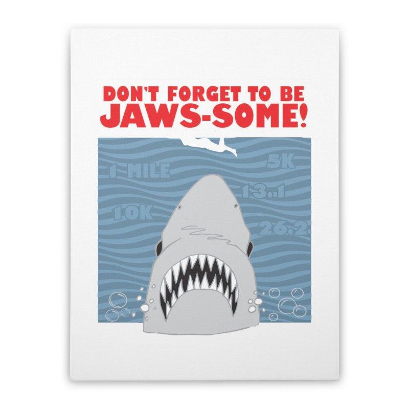 Shark Bait Hoo Ha Ha: Be JAWSome! Home Stretched Canvas by Moon Joggers's Artist Shop