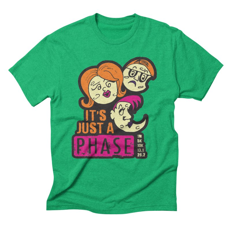 Moon Day - It's just a phase Men's Triblend T-Shirt by Moon Joggers's Artist Shop