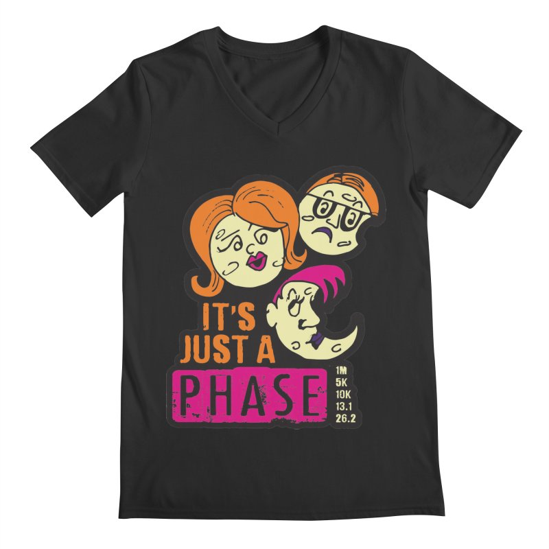 Moon Day - It's just a phase Men's Regular V-Neck by Moon Joggers's Artist Shop