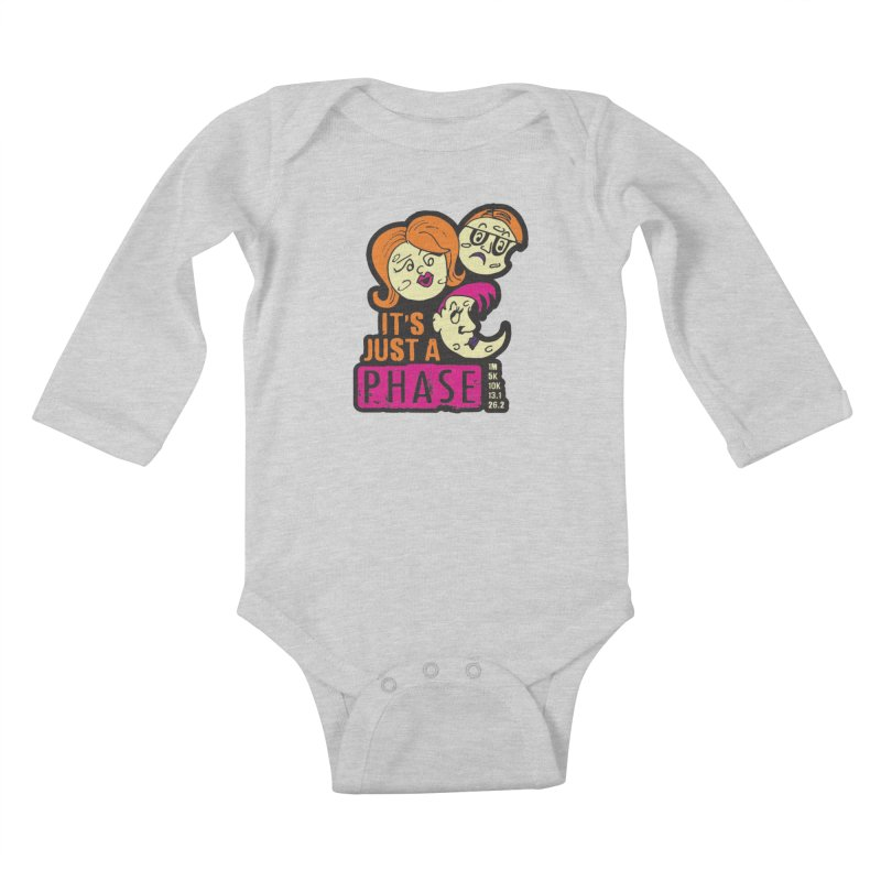 Moon Day - It's just a phase Kids Baby Longsleeve Bodysuit by Moon Joggers's Artist Shop