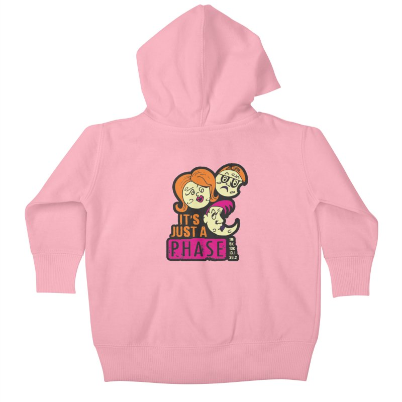 Moon Day - It's just a phase Kids Baby Zip-Up Hoody by Moon Joggers's Artist Shop