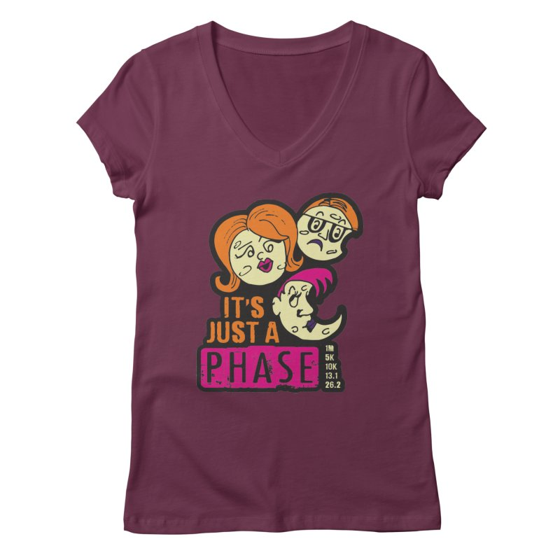 Moon Day - It's just a phase Women's Regular V-Neck by Moon Joggers's Artist Shop