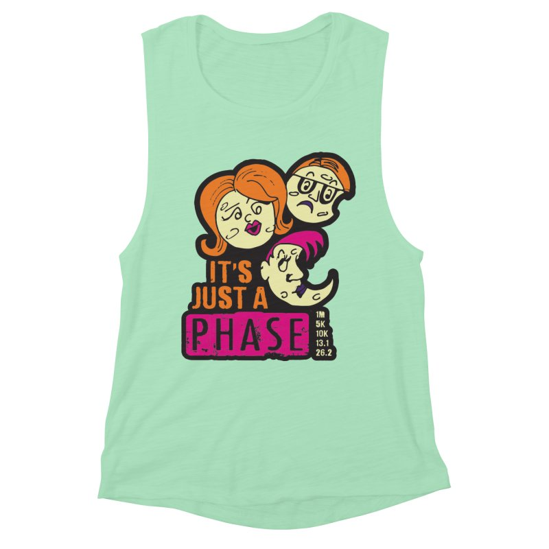 Moon Day - It's just a phase Women's Muscle Tank by Moon Joggers's Artist Shop
