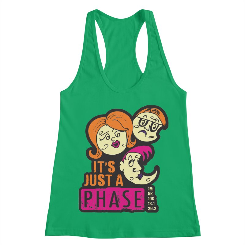 Moon Day - It's just a phase Women's Racerback Tank by Moon Joggers's Artist Shop
