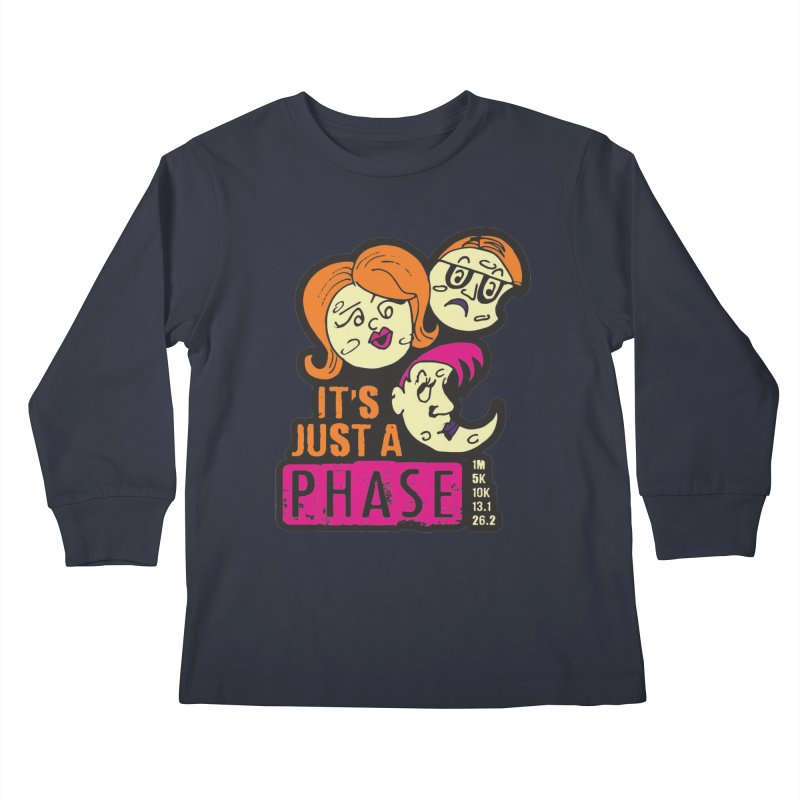 Moon Day - It's just a phase Kids Longsleeve T-Shirt by Moon Joggers's Artist Shop