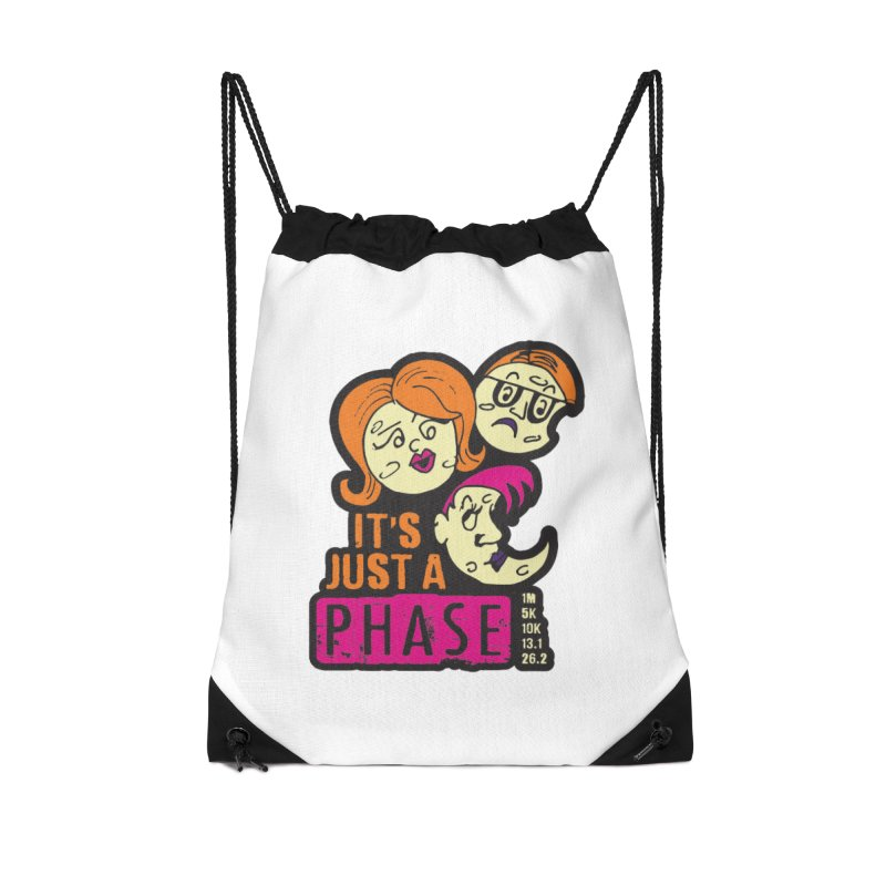 Moon Day - It's just a phase Accessories Drawstring Bag Bag by Moon Joggers's Artist Shop