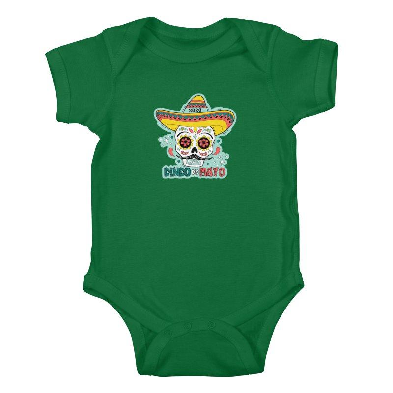 Cinco De Mayo Kids Baby Bodysuit by Moon Joggers's Artist Shop