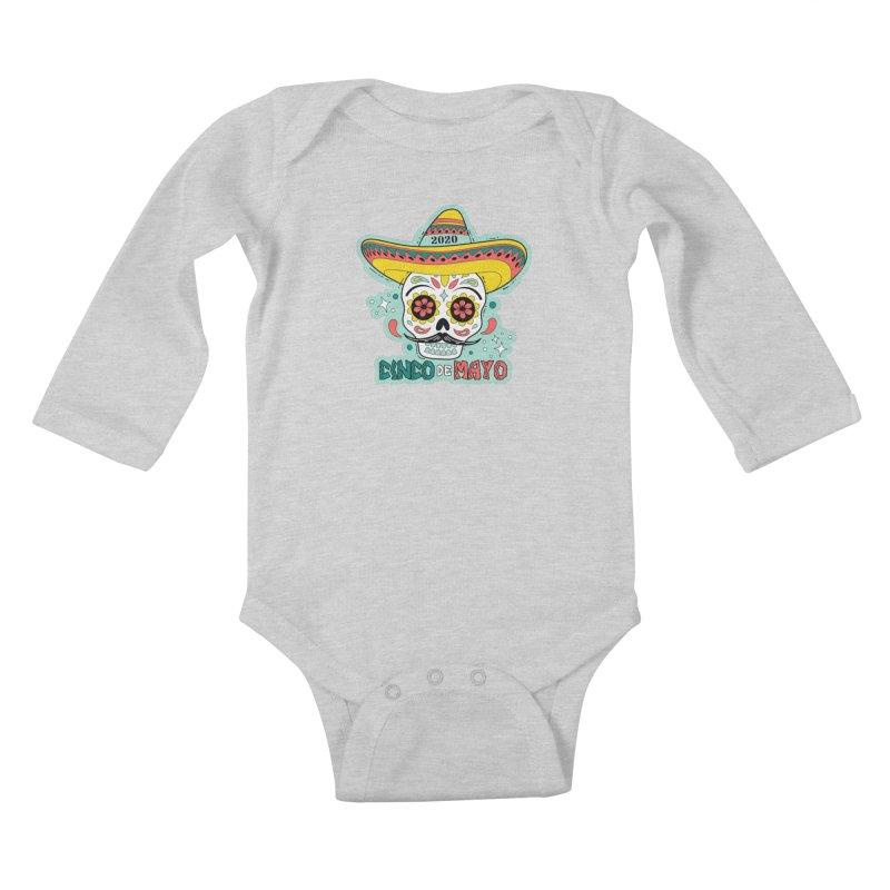 Cinco De Mayo Kids Baby Longsleeve Bodysuit by Moon Joggers's Artist Shop