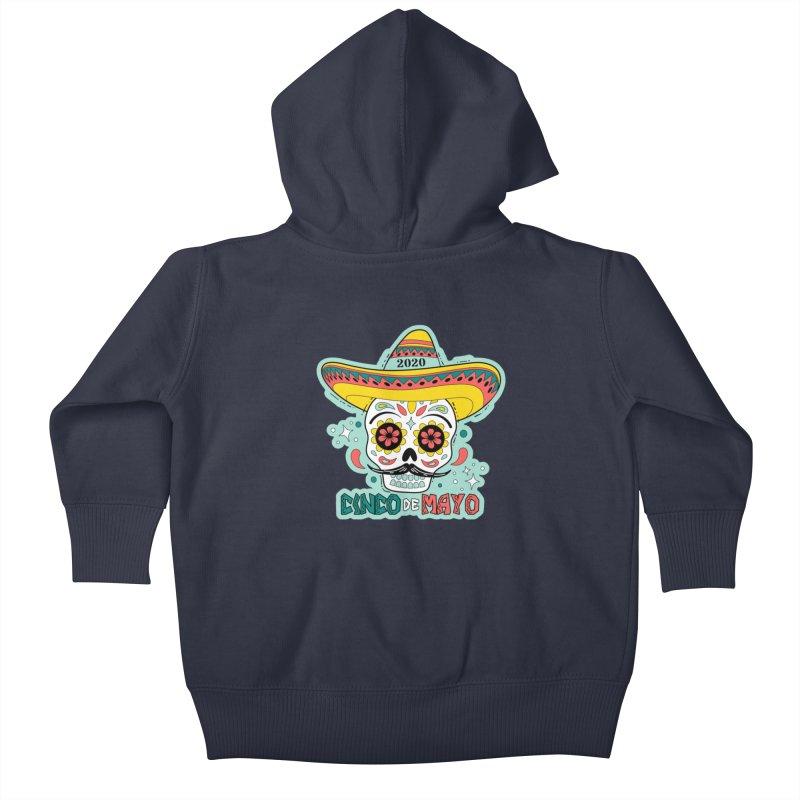 Cinco De Mayo Kids Baby Zip-Up Hoody by Moon Joggers's Artist Shop