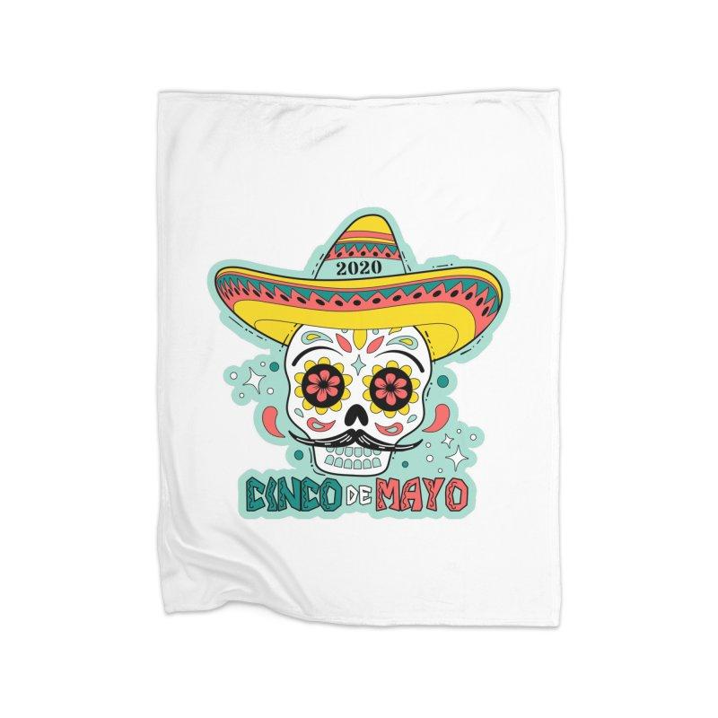 Cinco De Mayo Home Fleece Blanket Blanket by Moon Joggers's Artist Shop