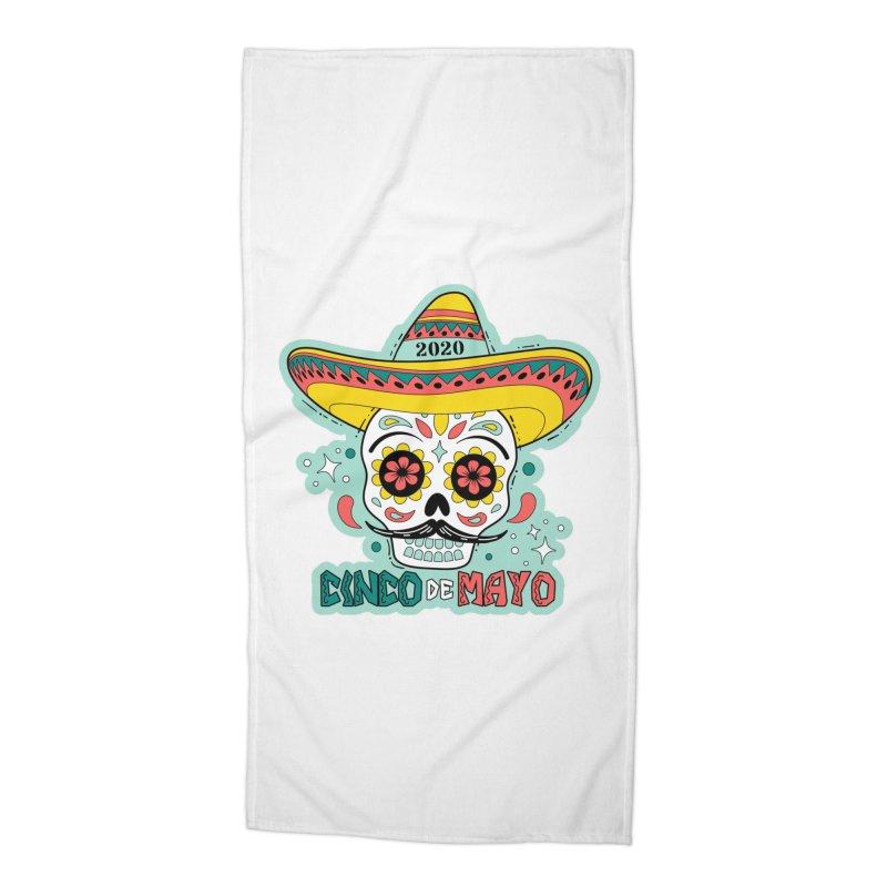 Cinco De Mayo Accessories Beach Towel by Moon Joggers's Artist Shop