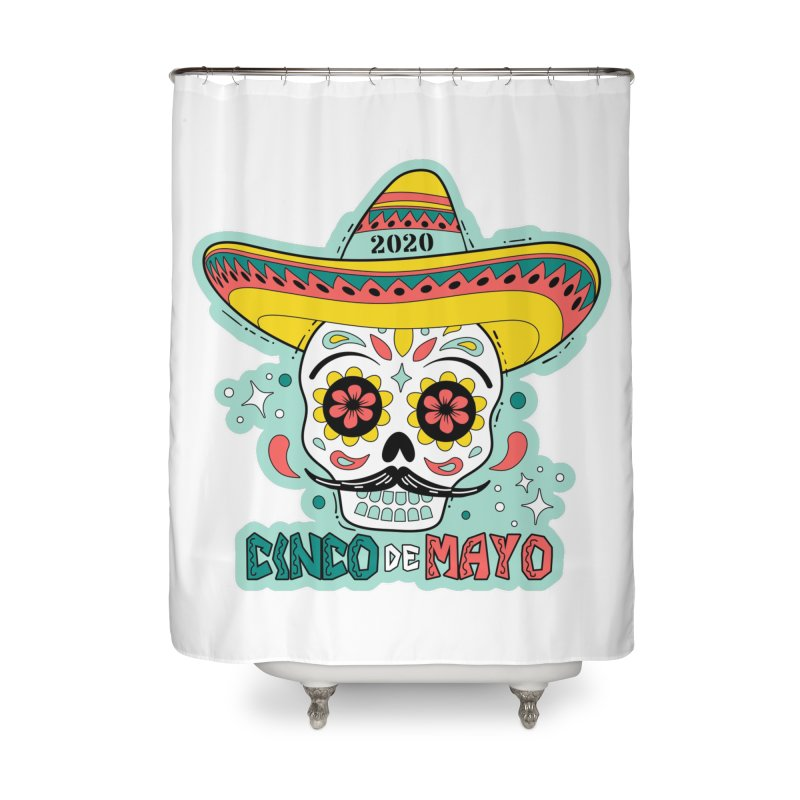 Cinco De Mayo Home Shower Curtain by Moon Joggers's Artist Shop
