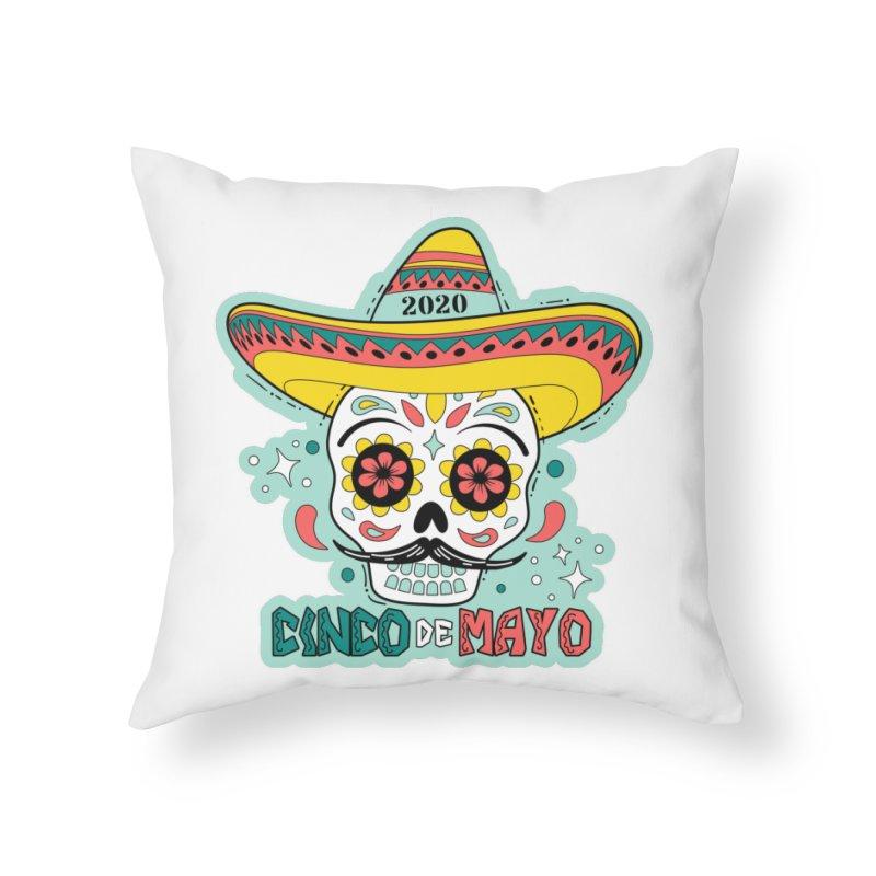 Cinco De Mayo Home Throw Pillow by Moon Joggers's Artist Shop