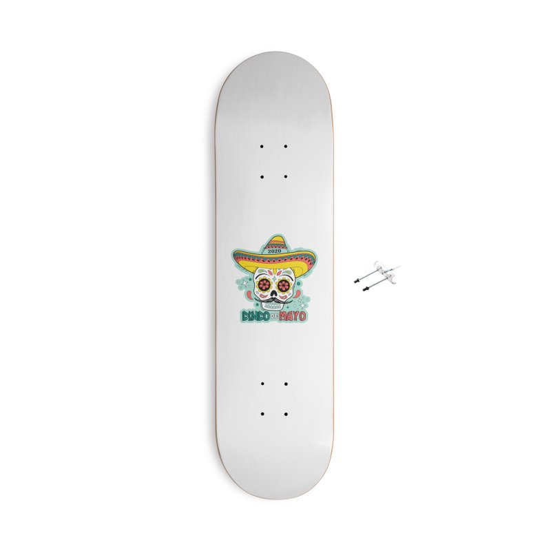 Cinco De Mayo Accessories With Hanging Hardware Skateboard by Moon Joggers's Artist Shop