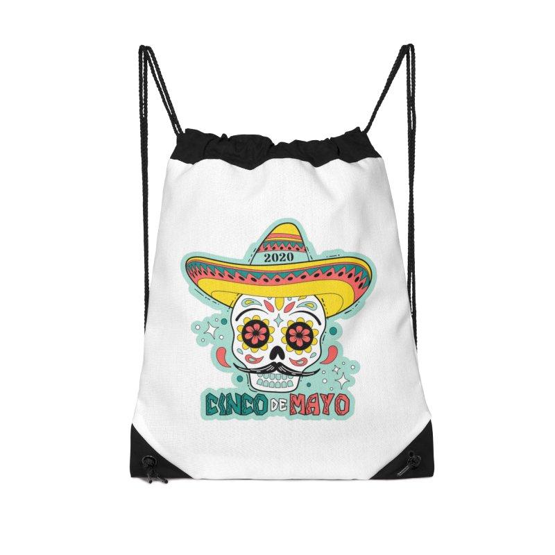 Cinco De Mayo Accessories Drawstring Bag Bag by Moon Joggers's Artist Shop