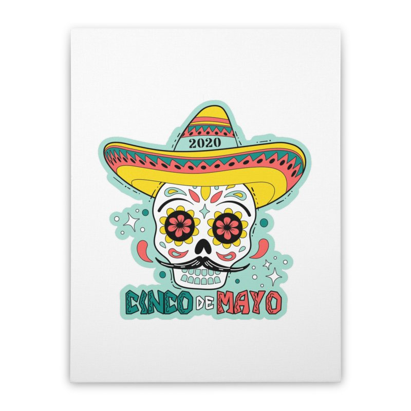 Cinco De Mayo Home Stretched Canvas by Moon Joggers's Artist Shop
