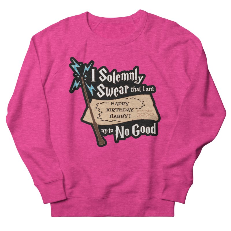 Happy Birthday Harry Women's French Terry Sweatshirt by Moon Joggers's Artist Shop
