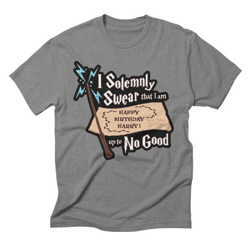 Happy Birthday Harry Men's Triblend T-Shirt by Moon Joggers's Artist Shop