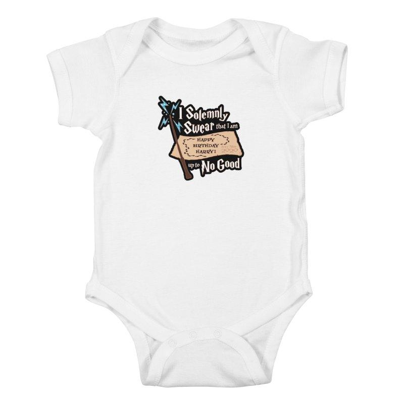 Happy Birthday Harry Kids Baby Bodysuit by Moon Joggers's Artist Shop
