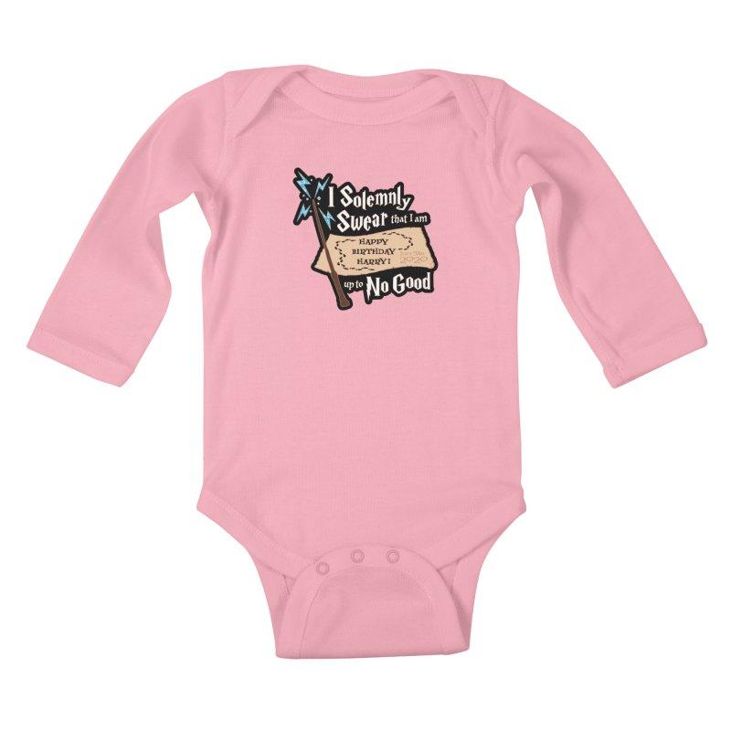 Happy Birthday Harry Kids Baby Longsleeve Bodysuit by Moon Joggers's Artist Shop