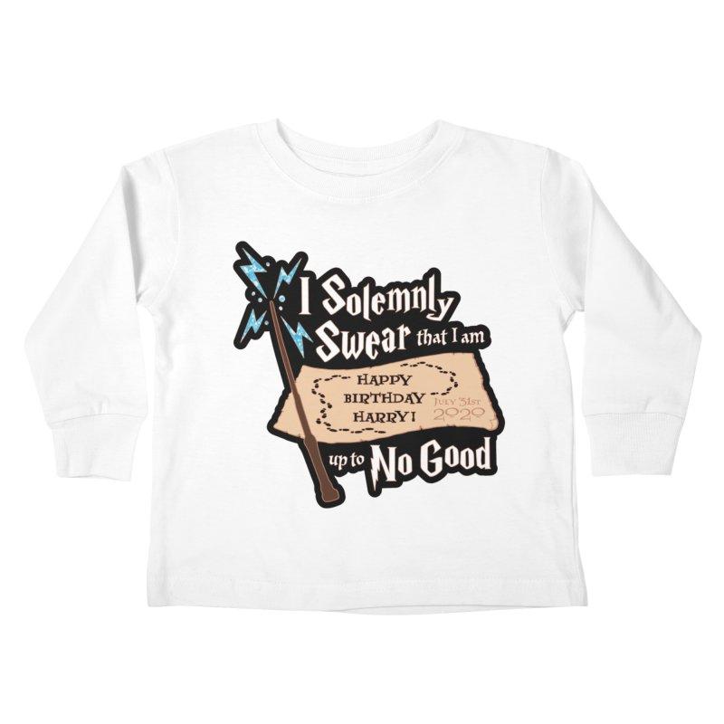 Happy Birthday Harry Kids Toddler Longsleeve T-Shirt by Moon Joggers's Artist Shop