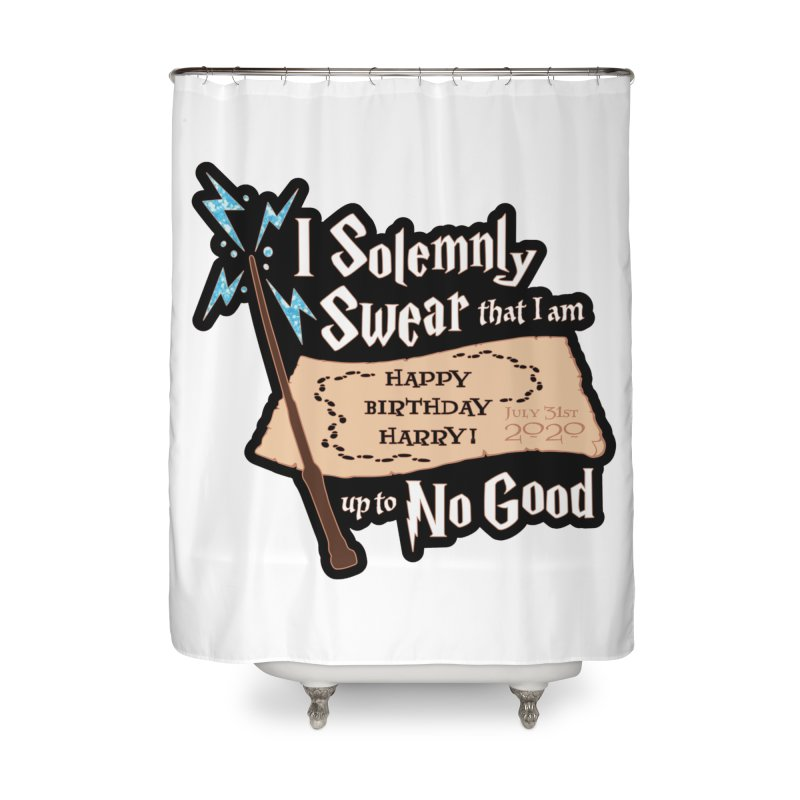 Happy Birthday Harry Home Shower Curtain by Moon Joggers's Artist Shop