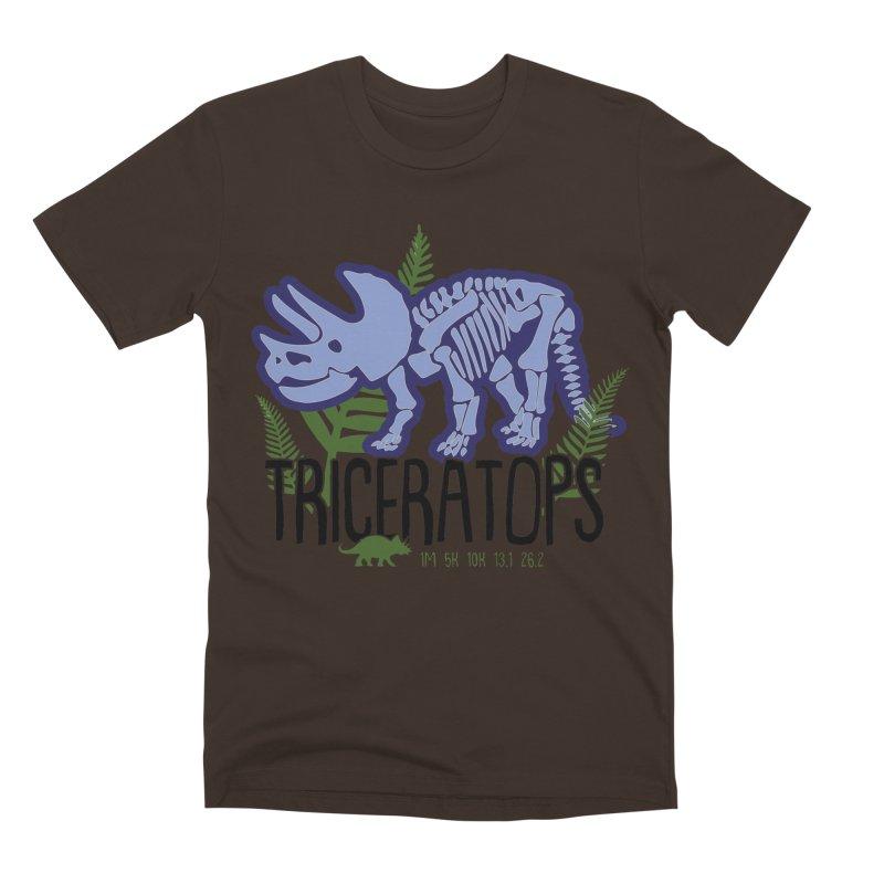Triceratops Men's Premium T-Shirt by Moon Joggers's Artist Shop