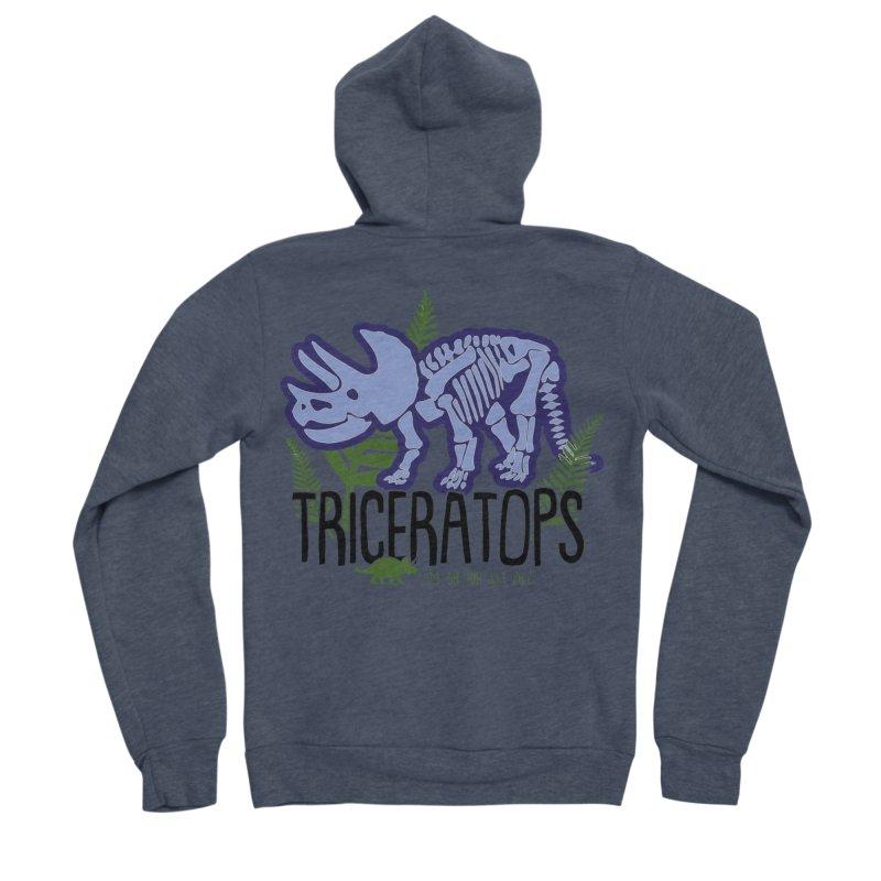 Triceratops Men's Sponge Fleece Zip-Up Hoody by Moon Joggers's Artist Shop