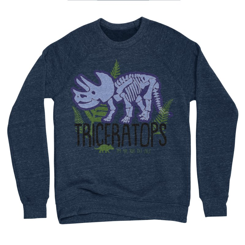 Triceratops Men's Sponge Fleece Sweatshirt by Moon Joggers's Artist Shop