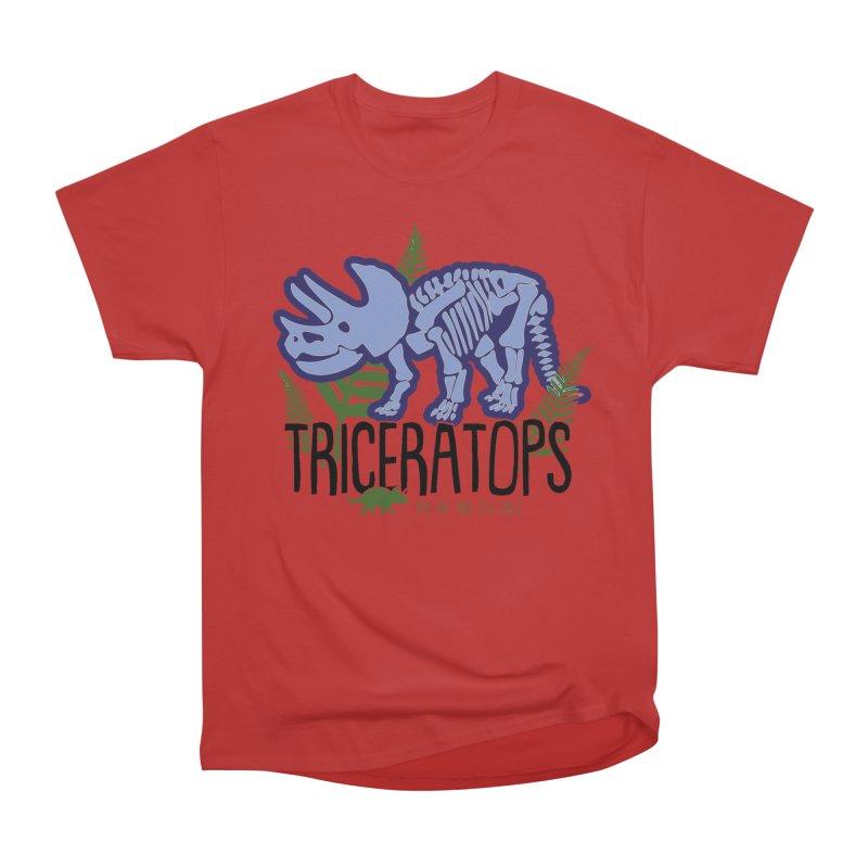 Triceratops Men's Heavyweight T-Shirt by Moon Joggers's Artist Shop