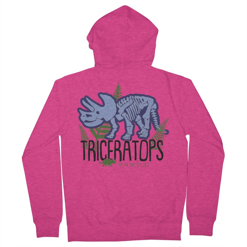 Triceratops Women's French Terry Zip-Up Hoody by Moon Joggers's Artist Shop