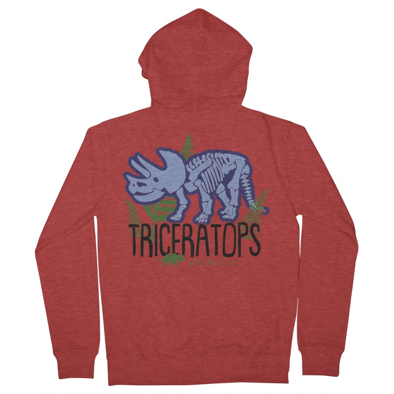 Triceratops Men's French Terry Zip-Up Hoody by Moon Joggers's Artist Shop