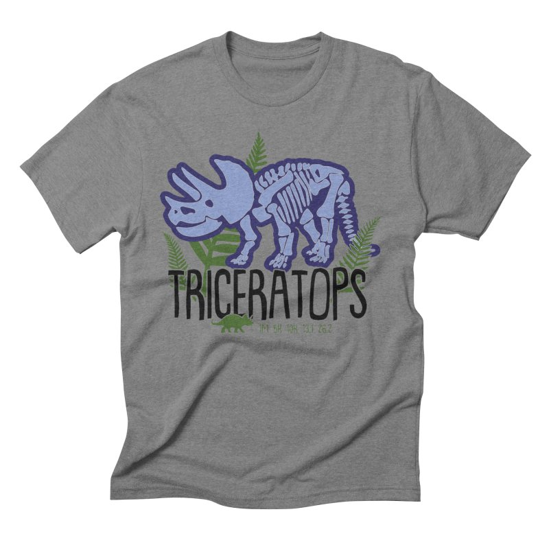 Triceratops Men's Triblend T-Shirt by Moon Joggers's Artist Shop