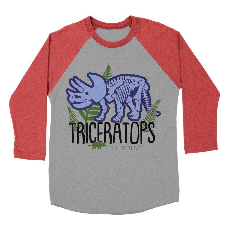 Triceratops Women's Baseball Triblend Longsleeve T-Shirt by Moon Joggers's Artist Shop