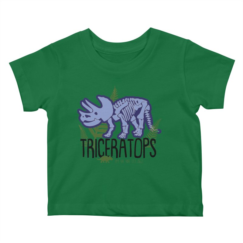 Triceratops Kids Baby T-Shirt by Moon Joggers's Artist Shop
