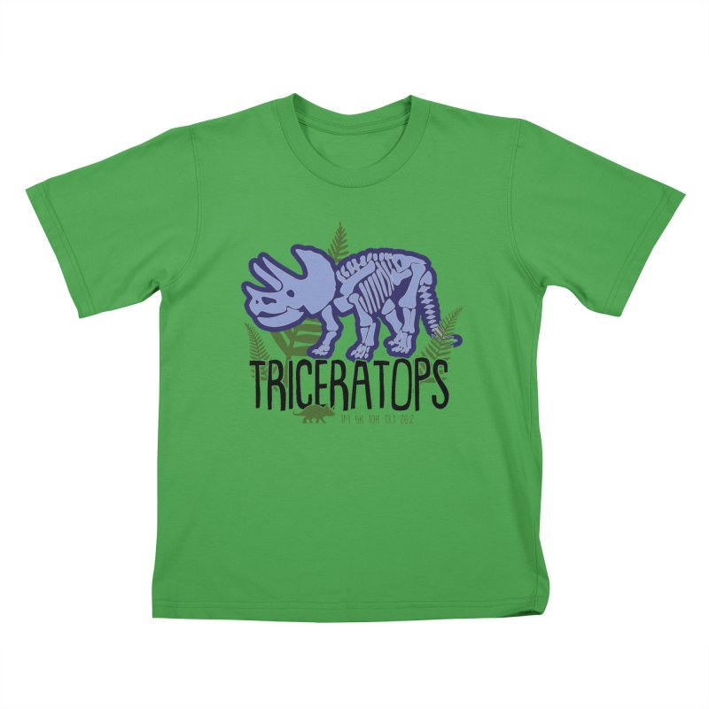 Triceratops Kids T-Shirt by Moon Joggers's Artist Shop