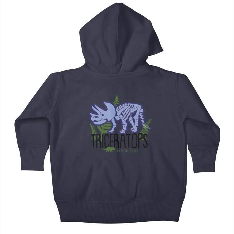 Triceratops Kids Baby Zip-Up Hoody by Moon Joggers's Artist Shop