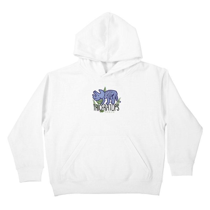 Triceratops Kids Pullover Hoody by Moon Joggers's Artist Shop