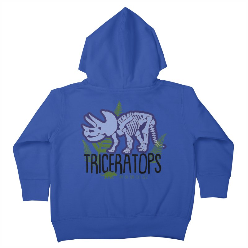 Triceratops Kids Toddler Zip-Up Hoody by Moon Joggers's Artist Shop