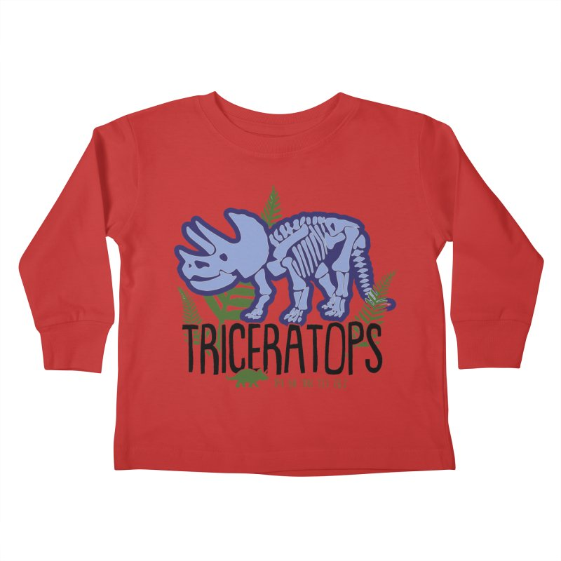 Triceratops Kids Toddler Longsleeve T-Shirt by Moon Joggers's Artist Shop