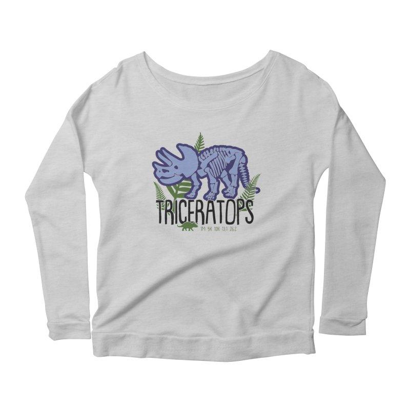Triceratops Women's Scoop Neck Longsleeve T-Shirt by Moon Joggers's Artist Shop