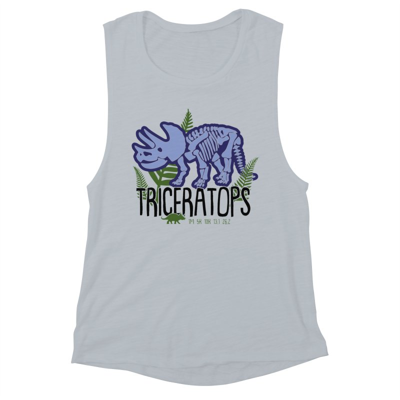 Triceratops Women's Muscle Tank by Moon Joggers's Artist Shop